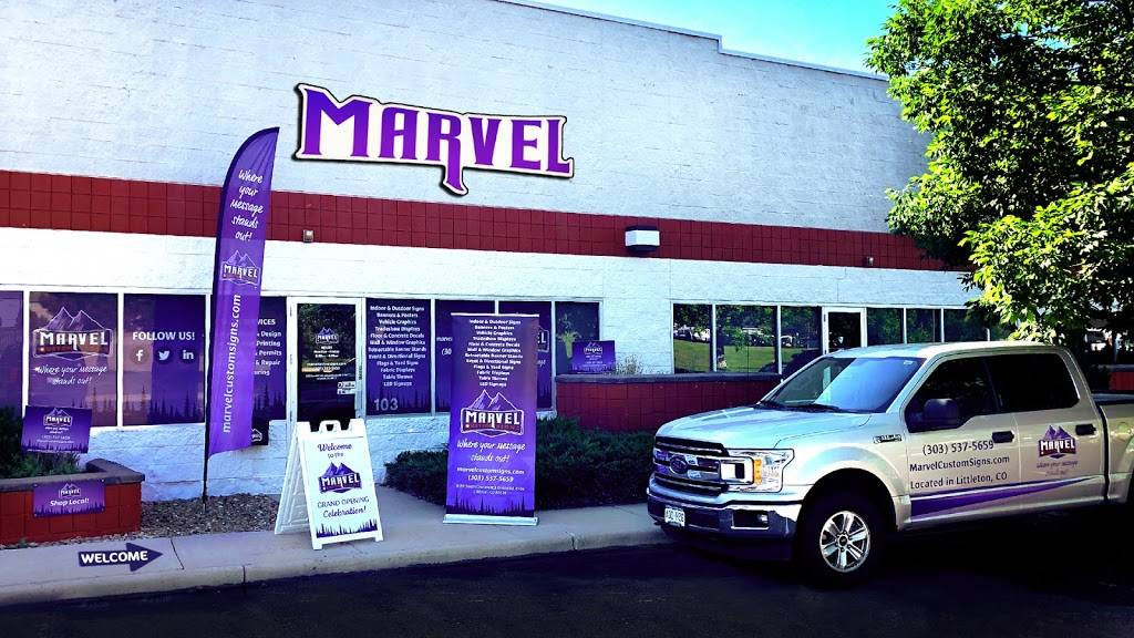 Marvel Custom Signs - store  | Photo 1 of 9 | Address: 8392 S Continental Divide Rd Suite 103, Littleton, CO 80127, USA | Phone: (303) 537-5659