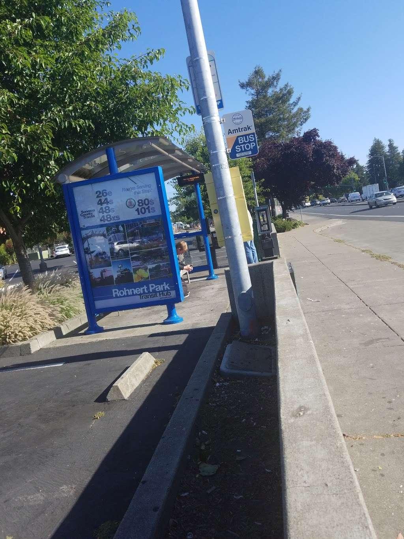 Commerce Blvd./ RP Expwy. - bus station  | Photo 1 of 1 | Address: 6335 Commerce Blvd, Rohnert Park, CA 94928, USA
