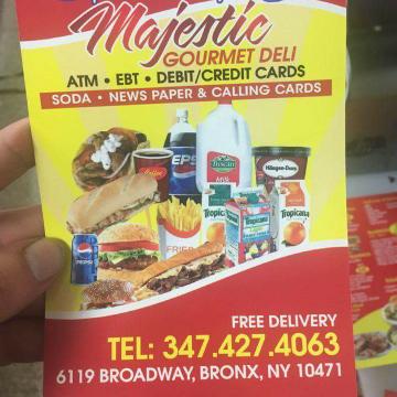 Majestic gourmet deli - store  | Photo 8 of 8 | Address: 6119 Broadway, Bronx, NY 10471, USA | Phone: (347) 427-4063