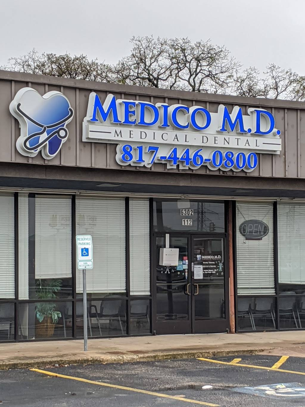 Medico M.D. Medical and Dental - dentist  | Photo 2 of 3 | Address: 6302 Meadowbrook Dr Suite 112, Fort Worth, TX 76112, USA | Phone: (817) 446-0800