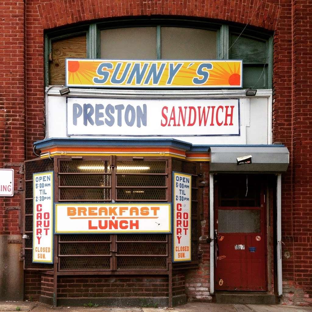 Sunnys - restaurant    Photo 1 of 2   Address: 1801 E Preston St, Baltimore, MD 21213, USA   Phone: (410) 675-5131