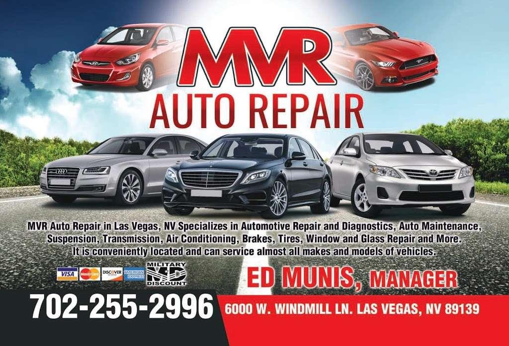 MVR Auto Services - car repair    Photo 1 of 10   Address: 6000 W Windmill Ln, Las Vegas, NV 89139, USA   Phone: (702) 255-2996