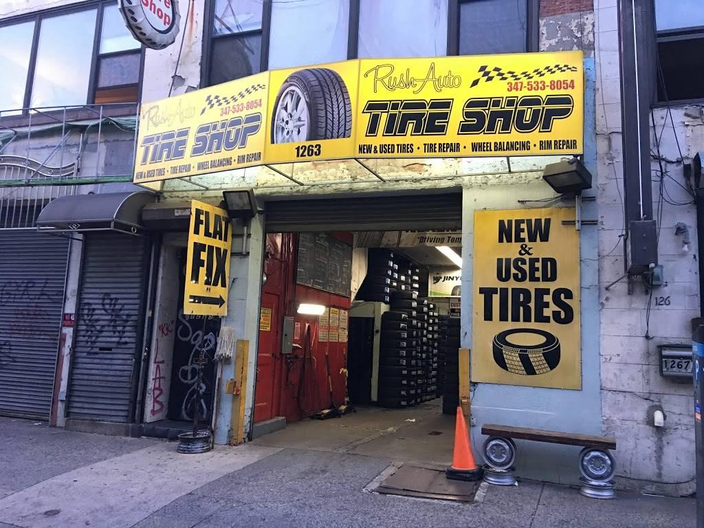 Rush Auto Tire Shop - car repair    Photo 1 of 10   Address: 1263 Atlantic Ave, Brooklyn, NY 11216, USA   Phone: (347) 533-8054