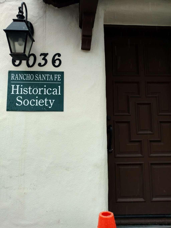 Rancho Santa Fe Historical Society - museum  | Photo 6 of 6 | Address: 6036 La Flecha, Rancho Santa Fe, CA 92067, USA | Phone: (858) 756-9291