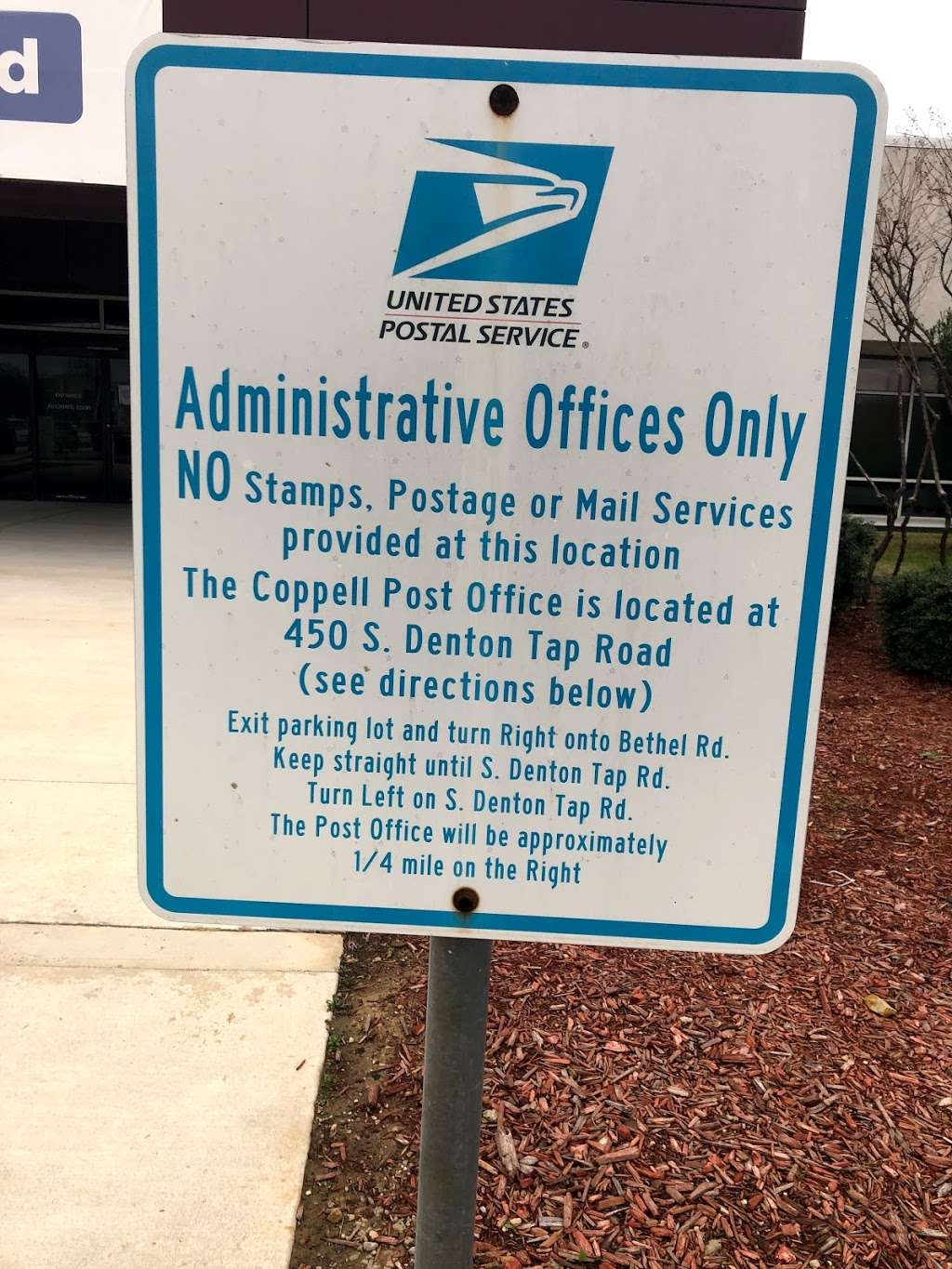 USPS North Texas Processing & Distribution Center - post office  | Photo 1 of 1 | Address: 951 W Bethel Rd, Coppell, TX 75019, USA