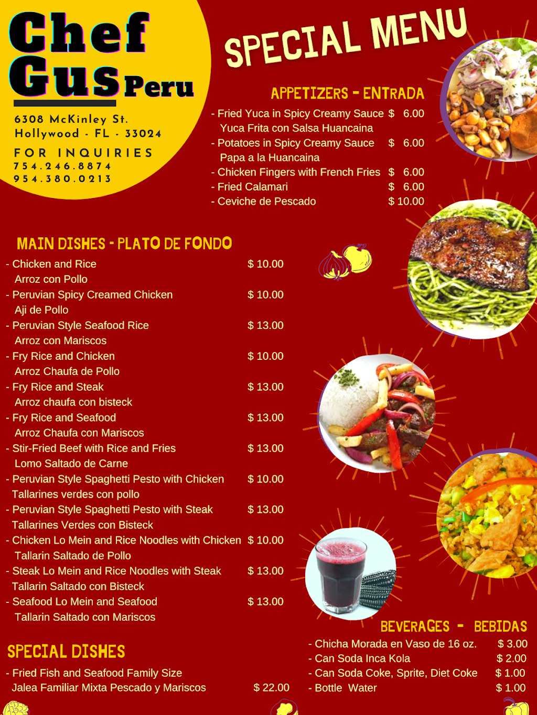 chefgus - restaurant  | Photo 4 of 8 | Address: 6308 McKinley St, Hollywood, FL 33024, USA | Phone: (754) 246-8874