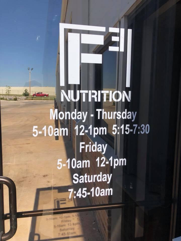 F3 Nutrition - restaurant    Photo 7 of 7   Address: 14300 N Lincoln Blvd #110, Edmond, OK 73013, USA   Phone: (405) 503-6601