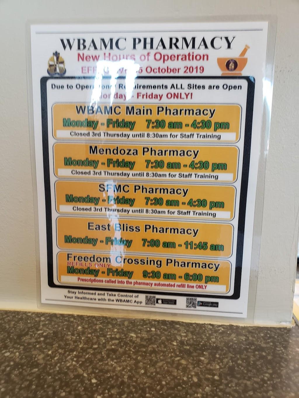 Hugo V. Mendoza Soldier Family Care Center - pharmacy  | Photo 10 of 10 | Address: 11335 Ssg Sims St, Fort Bliss, TX 79918, USA | Phone: (915) 742-2273