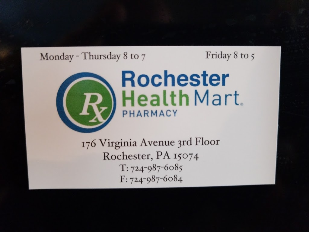 Rochester Health Mart Pharmacy - pharmacy  | Photo 2 of 2 | Address: 176 Virginia Ave 3rd floor, Rochester, PA 15074, USA | Phone: (724) 987-6085