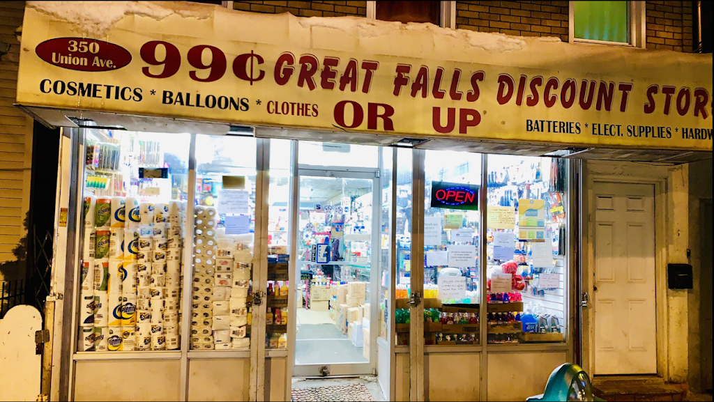 99 Cent Great Falls Discount Store - store  | Photo 1 of 10 | Address: 350 Union Ave, Paterson, NJ 07502, USA | Phone: (973) 389-1211