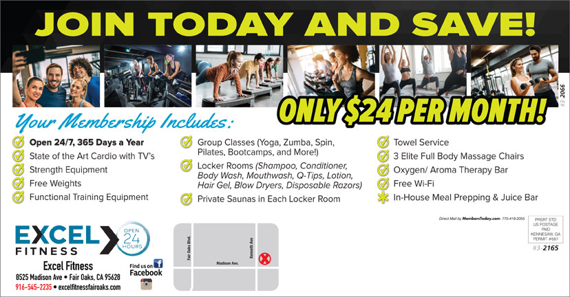 Excel Fitness Fair Oaks - spa  | Photo 3 of 7 | Address: 8525 Madison Ave Suite 135, Fair Oaks, CA 95628, USA | Phone: (916) 545-2235
