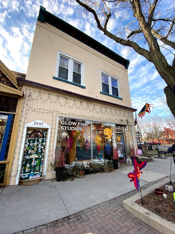 Glow Fish Studios - store    Photo 1 of 10   Address: 2840 Biddle Ave, Wyandotte, MI 48192, USA   Phone: (734) 552-6323