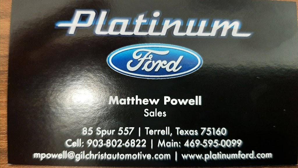 Matthew Powell at Platinum Ford - car dealer  | Photo 9 of 9 | Address: 85 TX-557 Spur, Terrell, TX 75160, USA | Phone: (972) 703-6511