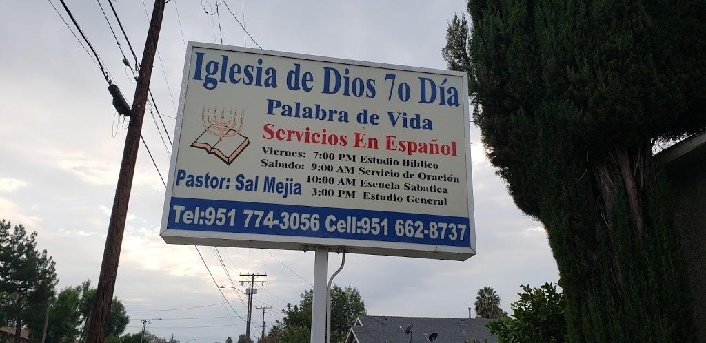 Church of God Seventh Day Word - church    Photo 1 of 2   Address: 3441 Rubidoux Blvd, Riverside, CA 92509, USA   Phone: (951) 774-3056