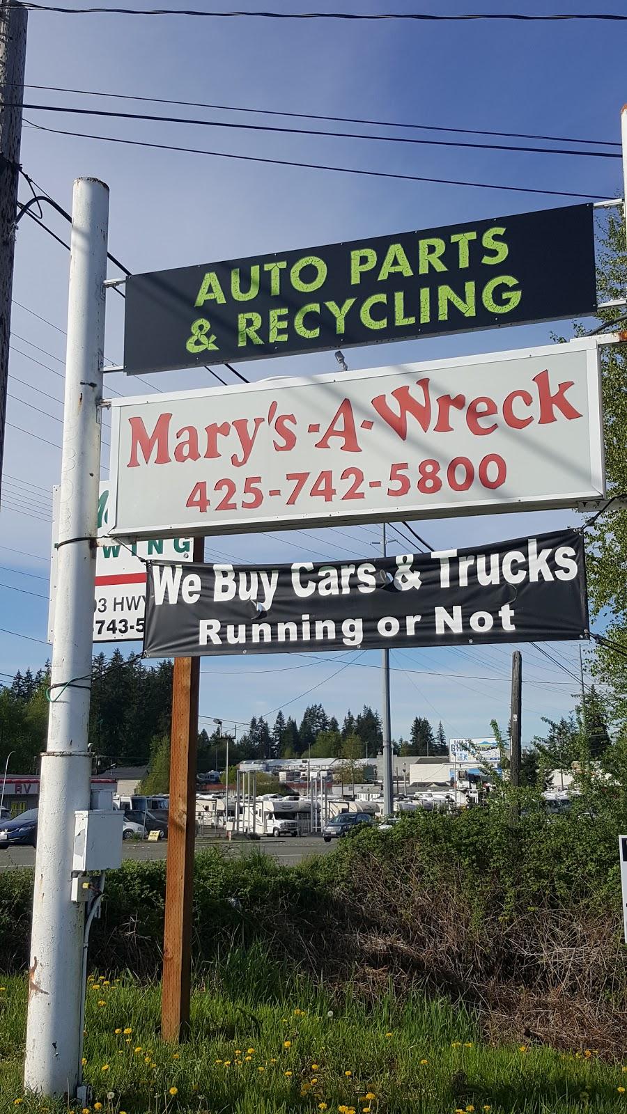 Marys-A-Wreck Auto Parts - car repair    Photo 3 of 6   Address: 13303 Hwy 99, Everett, WA 98204, USA   Phone: (425) 742-5800