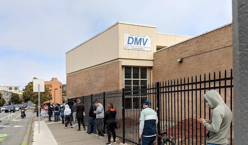 San Francisco DMV - local government office    Photo 1 of 10   Address: 1377 Fell St, San Francisco, CA 94117, USA   Phone: (800) 777-0133