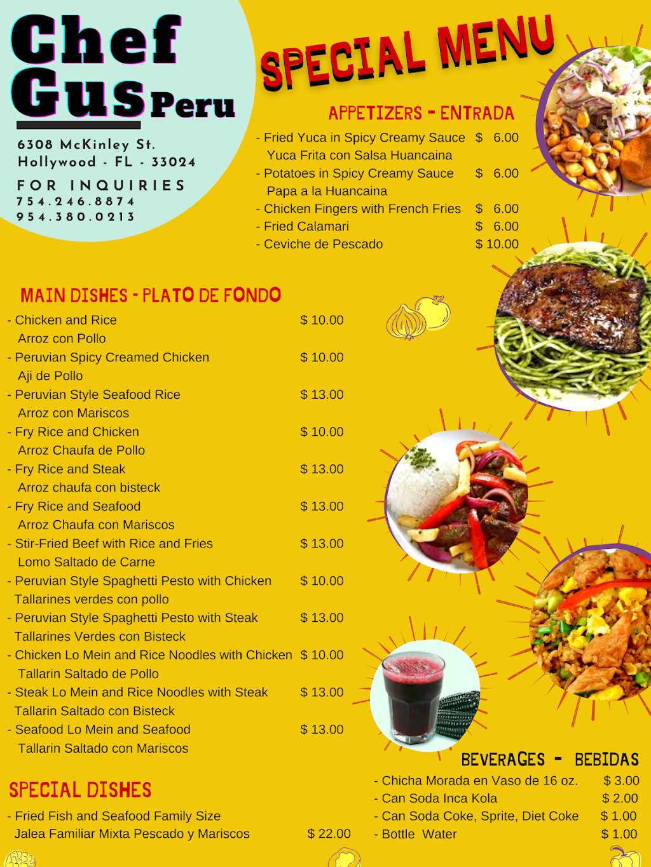 chefgus - restaurant  | Photo 6 of 8 | Address: 6308 McKinley St, Hollywood, FL 33024, USA | Phone: (754) 246-8874