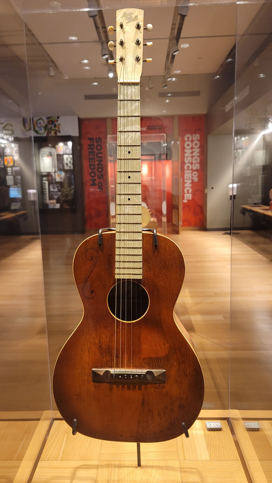 Woody Guthrie Center - museum    Photo 6 of 10   Address: 102 E Reconciliation Way, Tulsa, OK 74103, USA   Phone: (918) 574-2710