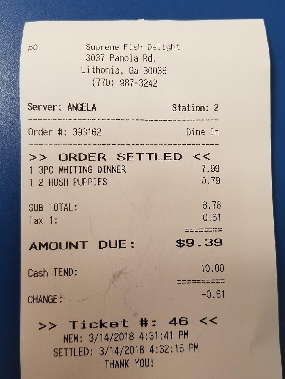 Supreme Fish Delight - restaurant  | Photo 10 of 10 | Address: 3037 Panola Rd, Stonecrest, GA 30038, USA | Phone: (770) 987-3242