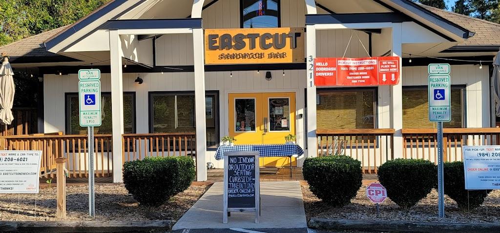 Eastcut Sandwich Bar - restaurant    Photo 1 of 10   Address: 3211 Old Chapel Hill Rd, Durham, NC 27707, USA   Phone: (984) 439-1852