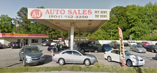 AJ Auto Sales - car dealer    Photo 1 of 10   Address: 7421 Jefferson Davis Hwy, Richmond, VA 23237, USA   Phone: (804) 912-2250