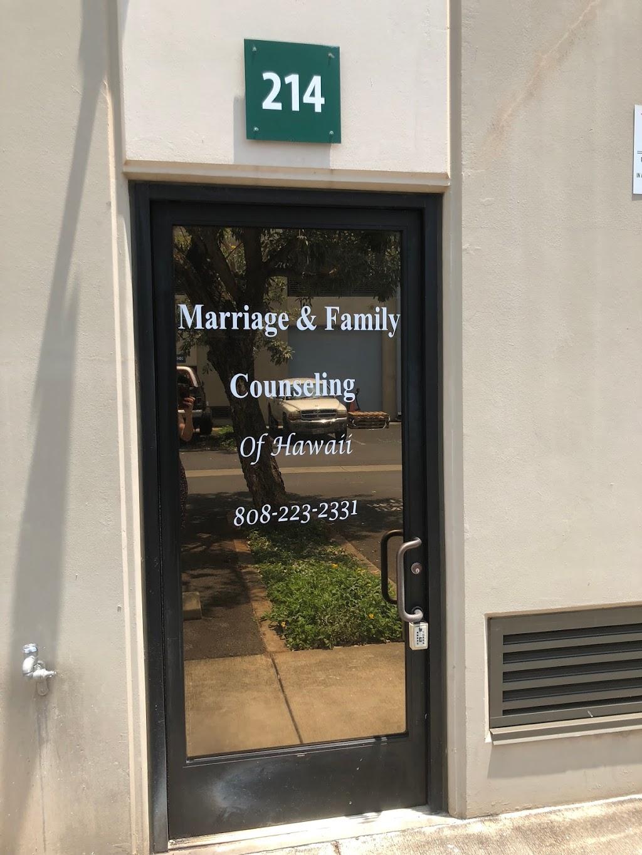 Marriage and Family Counseling of Hawaii - health  | Photo 4 of 5 | Address: 94-1388 Moaniani St #214, Waipahu, HI 96797, USA | Phone: (808) 223-2331