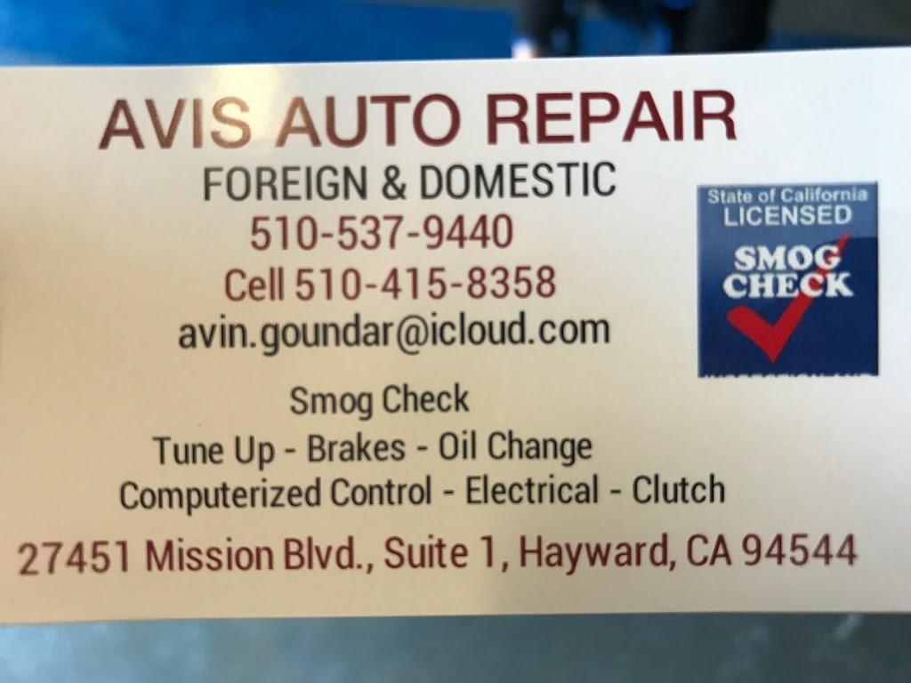Avis Auto Repair - car repair  | Photo 3 of 3 | Address: 27451 Mission Blvd # 1, Hayward, CA 94544, USA | Phone: (510) 537-9440