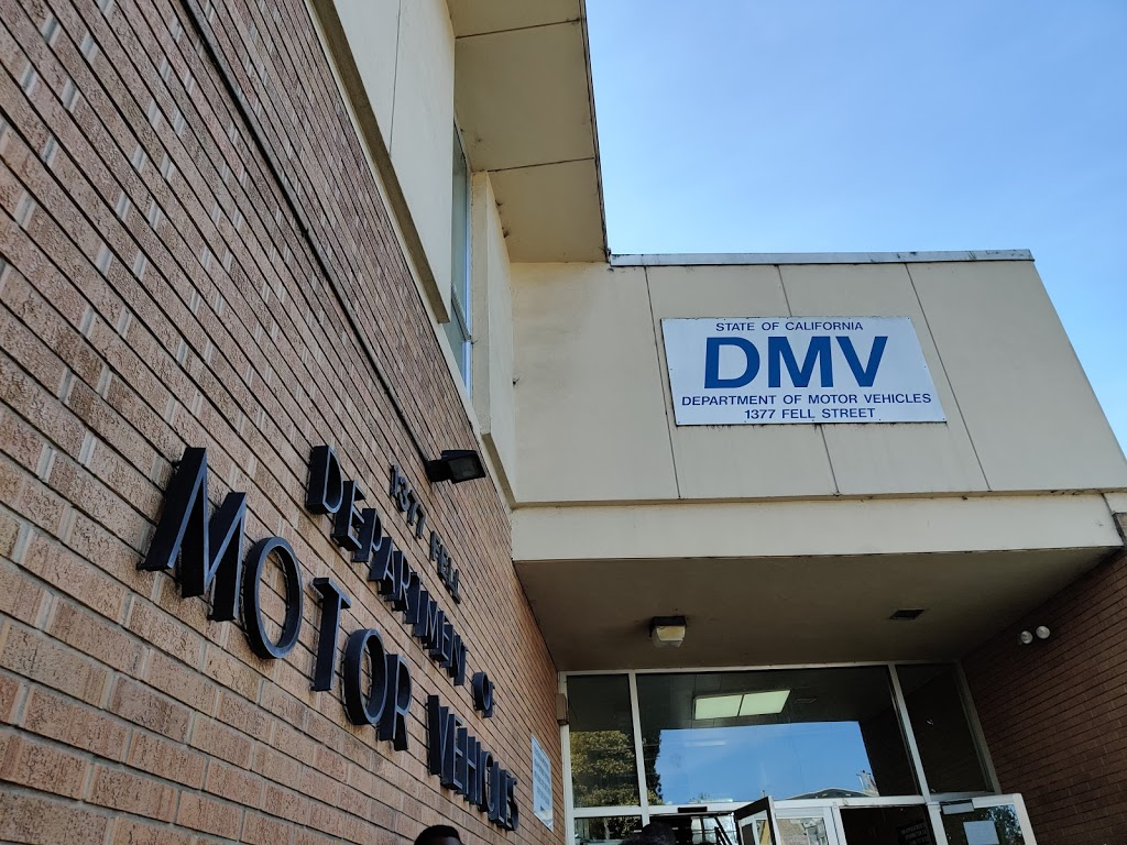 San Francisco DMV - local government office    Photo 5 of 10   Address: 1377 Fell St, San Francisco, CA 94117, USA   Phone: (800) 777-0133