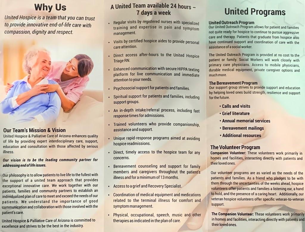United Hospice & Palliative Care of Arizona - health  | Photo 6 of 6 | Address: 2630 E Mohawk Ln Suite 132, Phoenix, AZ 85050, USA | Phone: (602) 296-4717