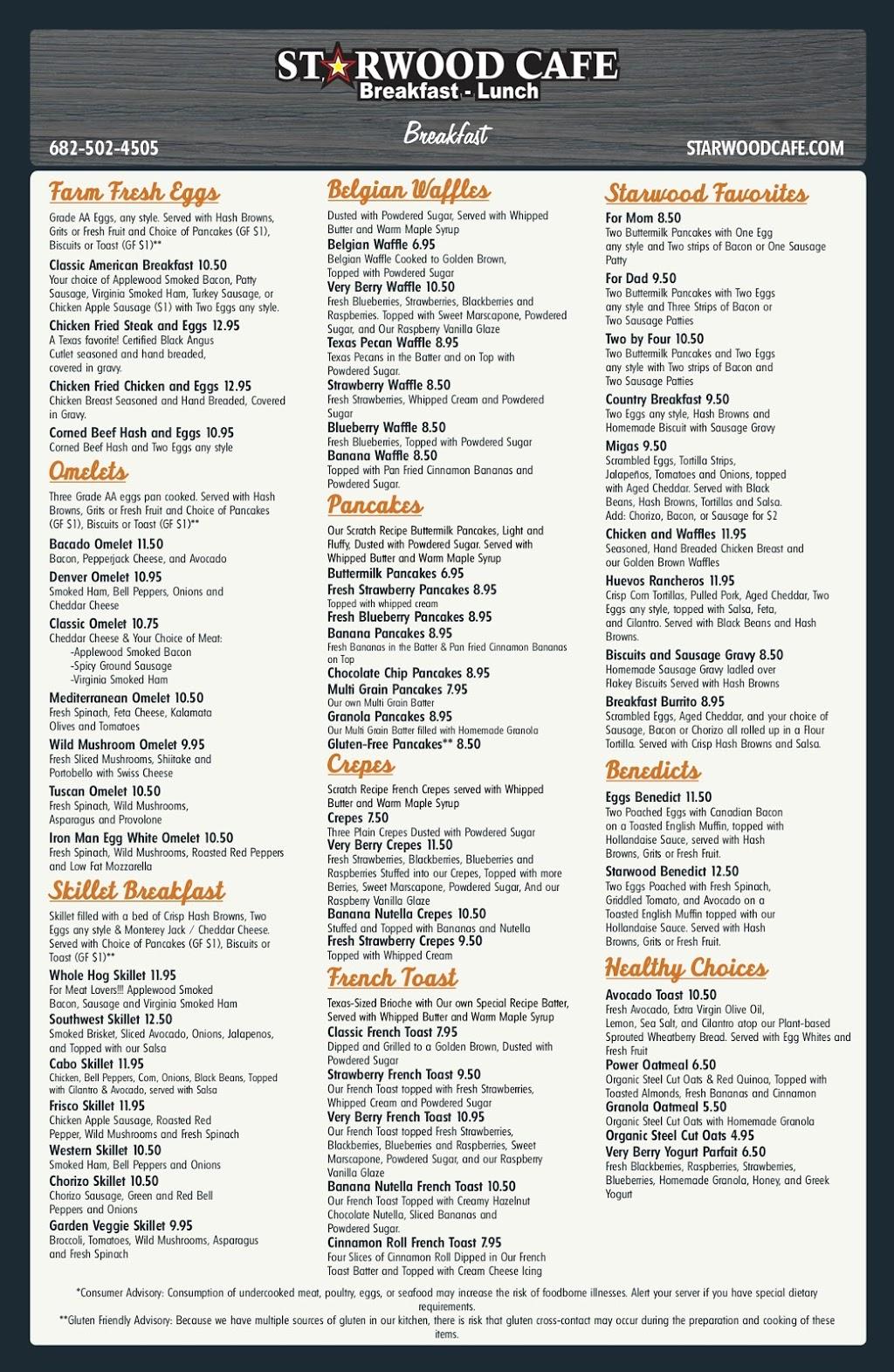 Starwood Cafe - Trophy Club - restaurant    Photo 4 of 4   Address: 2240 TX-114, Trophy Club, TX 76262, USA   Phone: (682) 502-4505