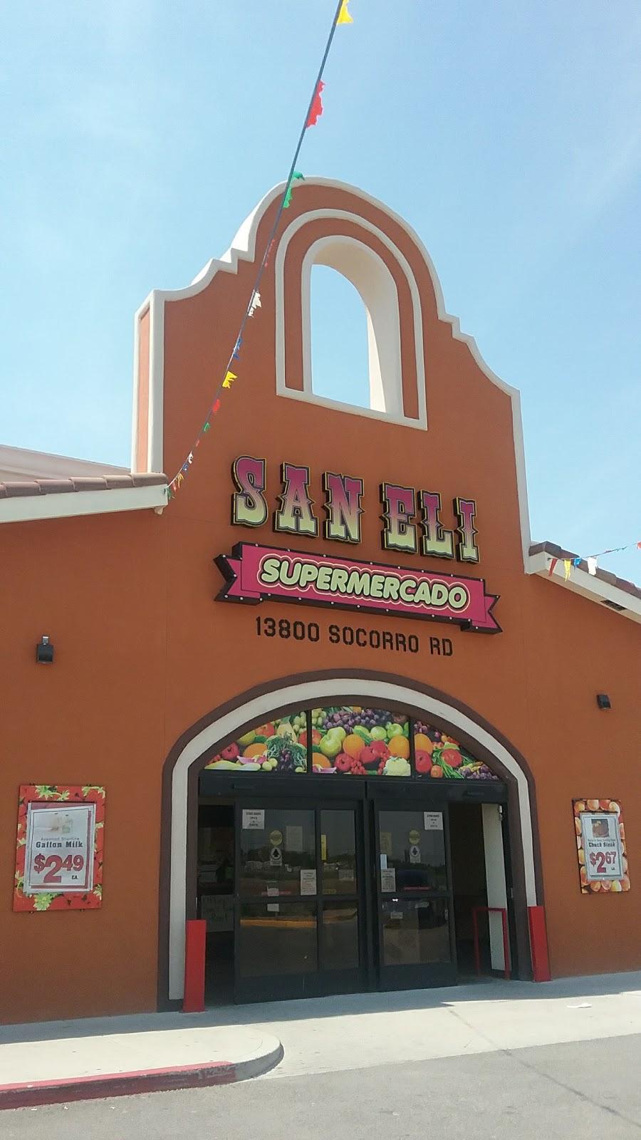 San Eli Supermercado Llc - supermarket    Photo 1 of 10   Address: 13800 Socorro Rd, San Elizario, TX 79849, USA   Phone: (915) 851-1412