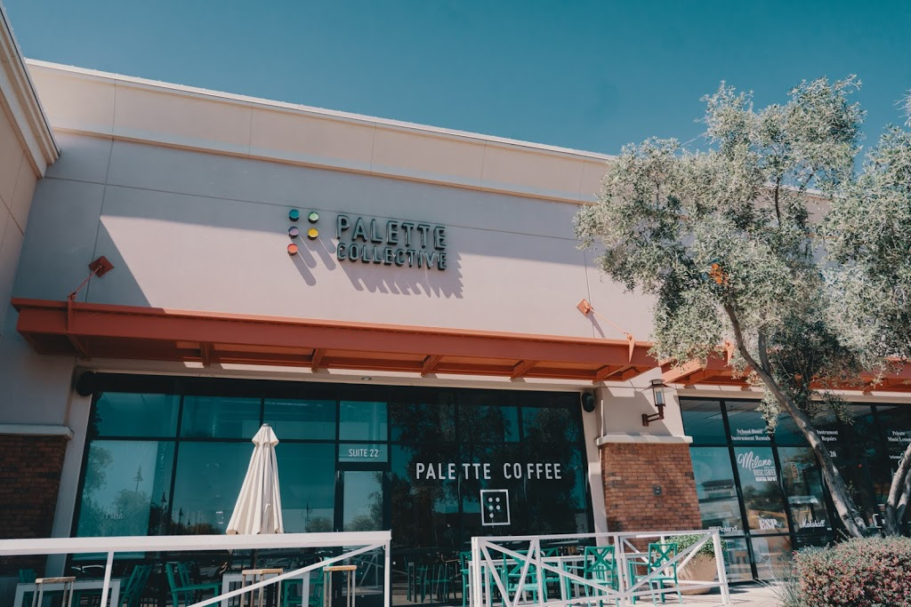 Palette Collective Coffee & Co-Retail - cafe    Photo 1 of 10   Address: 2100 S Gilbert Rd #22, Chandler, AZ 85286, USA   Phone: (602) 575-0600