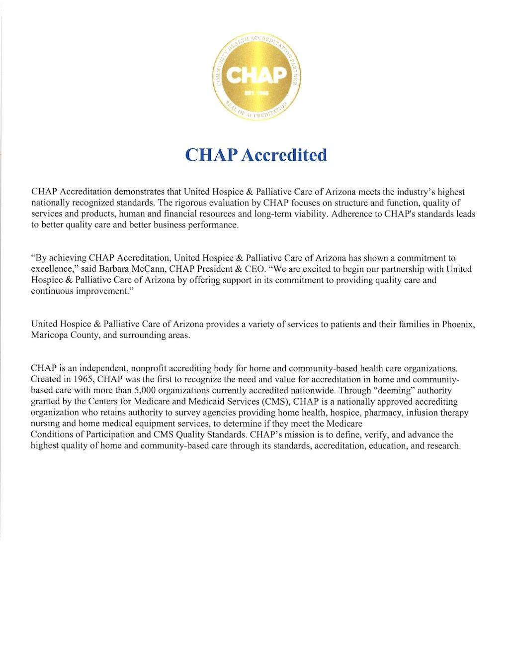 United Hospice & Palliative Care of Arizona - health  | Photo 5 of 6 | Address: 2630 E Mohawk Ln Suite 132, Phoenix, AZ 85050, USA | Phone: (602) 296-4717