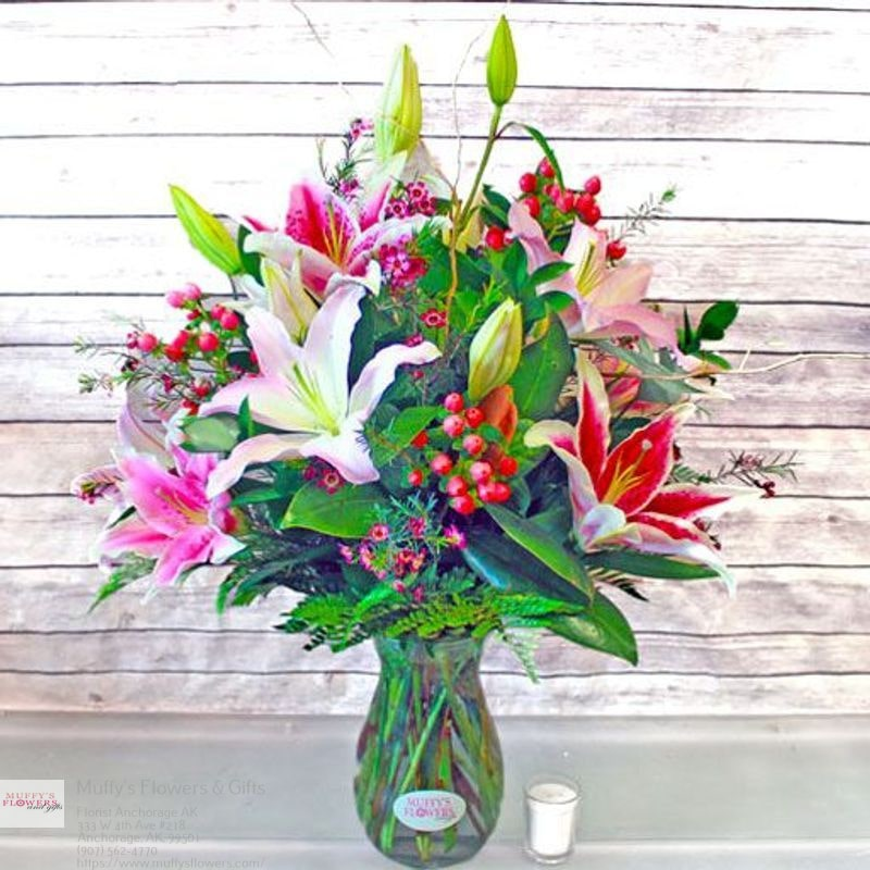 Muffys Flowers & Gifts - florist  | Photo 3 of 4 | Address: 333 W 4th Ave #218, Anchorage, AK 99501, United States | Phone: (907) 562-4770
