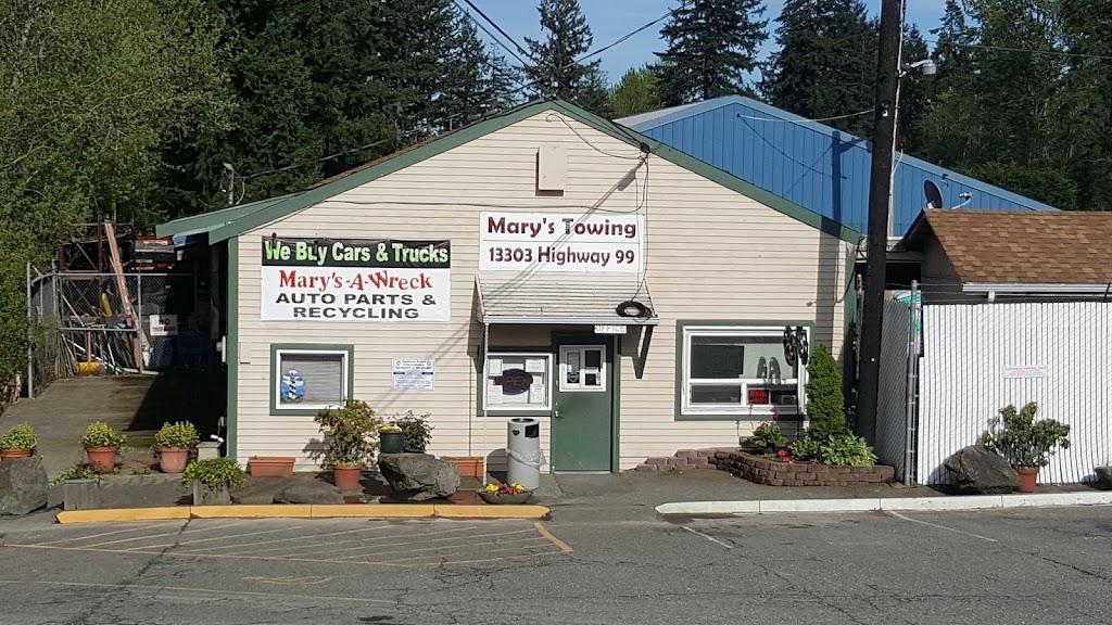 Marys-A-Wreck Auto Parts - car repair    Photo 1 of 6   Address: 13303 Hwy 99, Everett, WA 98204, USA   Phone: (425) 742-5800
