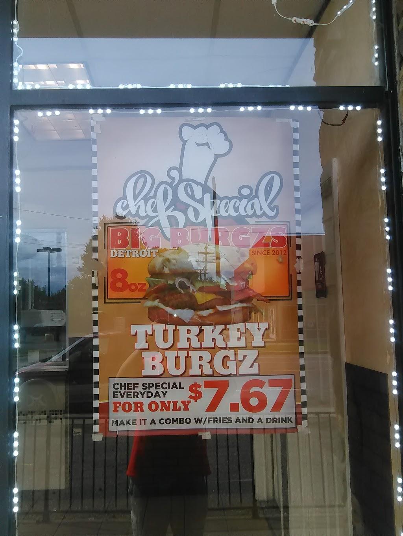 Motor City Burgzs - restaurant    Photo 9 of 10   Address: 17627 E Warren Ave, Detroit, MI 48224, USA   Phone: (313) 640-3956