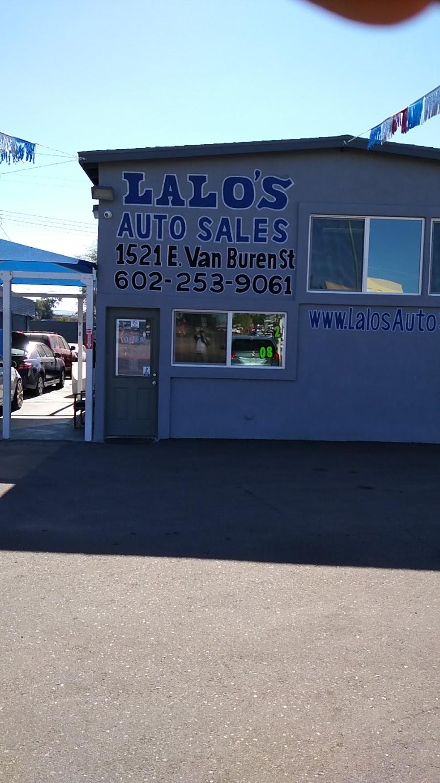 Lalos Auto Sales - car dealer    Photo 4 of 10   Address: 1521 E Van Buren St, Phoenix, AZ 85006, USA   Phone: (602) 253-9061