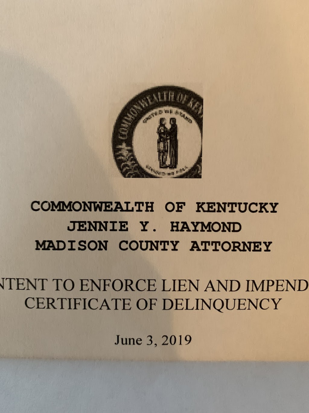 Madison County Attorney - local government office    Photo 1 of 1   Address: 135 W Irvine St #202, Richmond, KY 40475, USA   Phone: (859) 624-4777