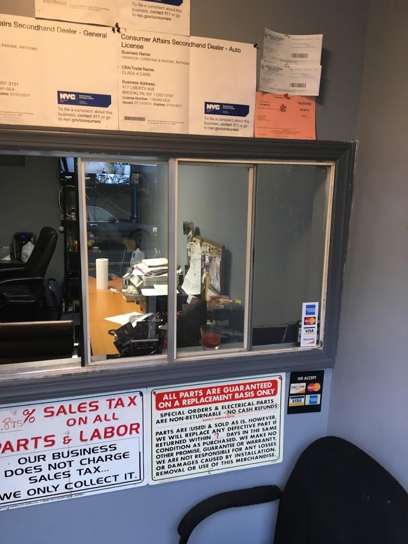 Class A Cars-N-Parts - car dealer  | Photo 1 of 10 | Address: 477 Liberty Ave, Brooklyn, NY 11207, USA | Phone: (718) 348-0303
