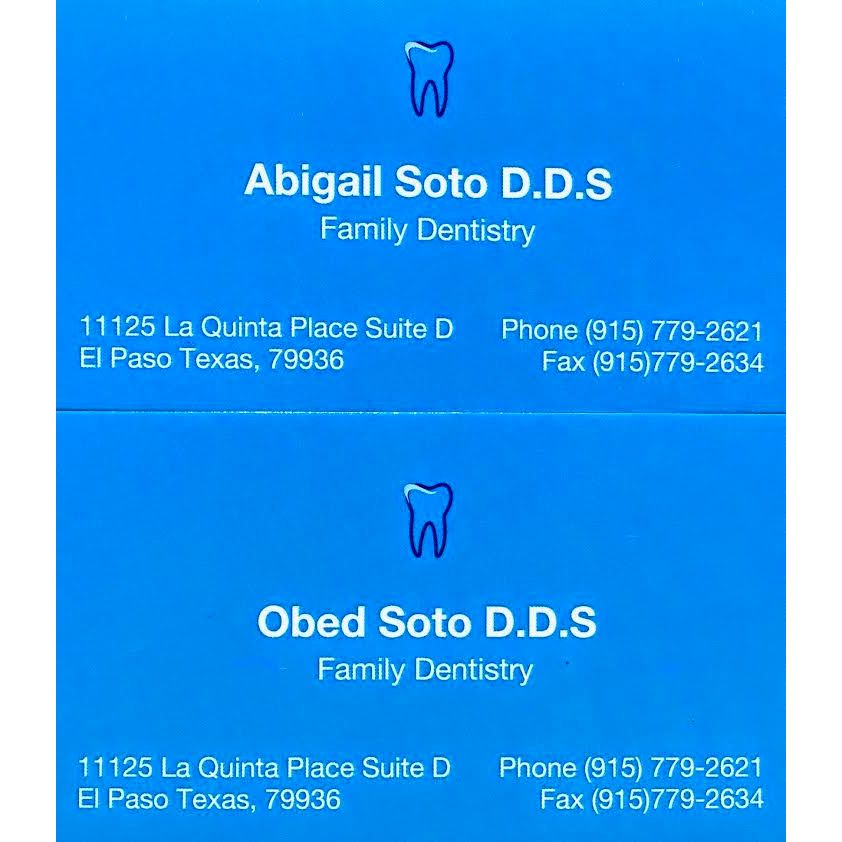 Obed Soto D.D.S. & Abigail Soto D.D.S. - dentist  | Photo 5 of 5 | Address: 11125 La Quinta Pl STE D, El Paso, TX 79936, USA | Phone: (915) 779-2621