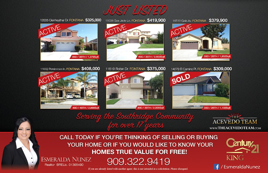 Esmeralda Nunez Century 21 King The Acevedo Team - real estate agency  | Photo 10 of 10 | Address: 8338 Day Creek Blvd Ste 102, Rancho Cucamonga, CA 91739, USA | Phone: (909) 758-4840