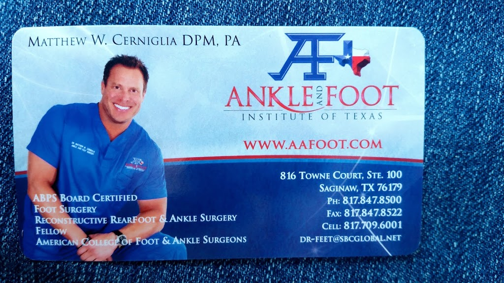Ankle and Foot Institute of Texas - doctor  | Photo 3 of 3 | Address: 816 Towne Ct, Fort Worth, TX 76179, USA | Phone: (817) 847-8500