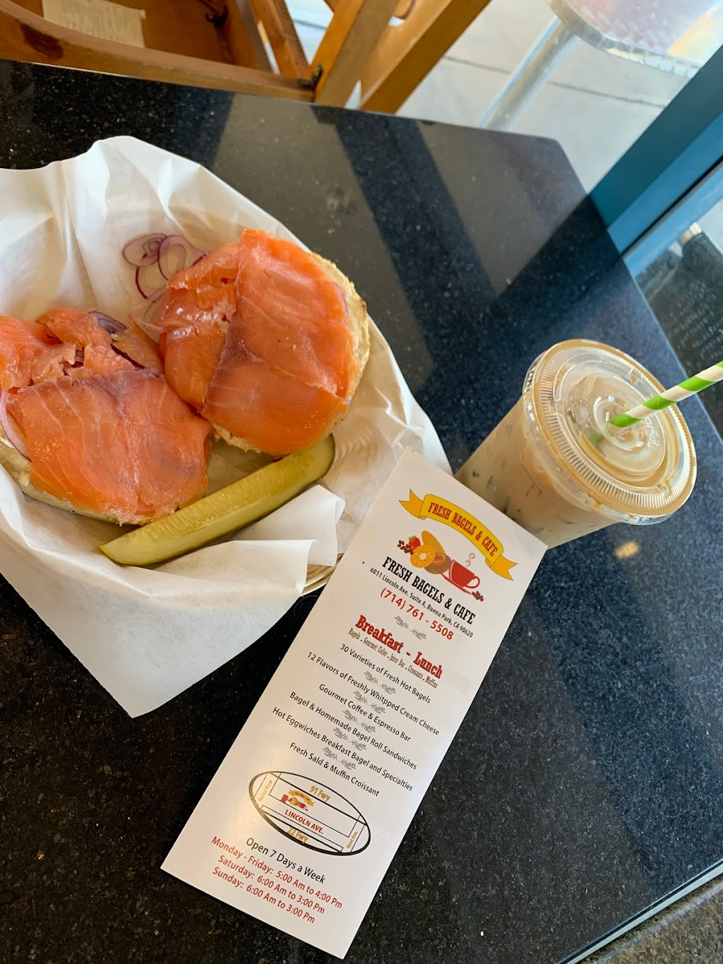 Fresh Bagels & Cafe - bakery  | Photo 7 of 10 | Address: 6011 Lincoln Ave, Buena Park, CA 90620, USA | Phone: (714) 761-5508