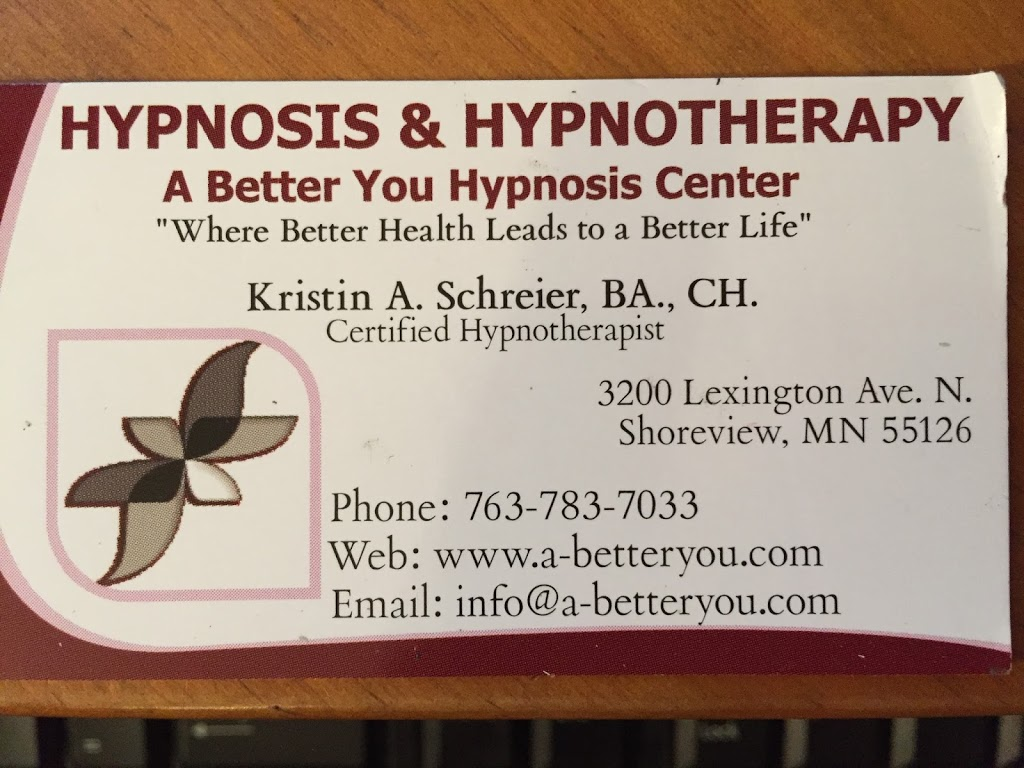 A Better You Wellness & Hypnosis Center - health  | Photo 1 of 2 | Address: 3200 Lexington Ave N, Shoreview, MN 55126, USA | Phone: (763) 783-7033
