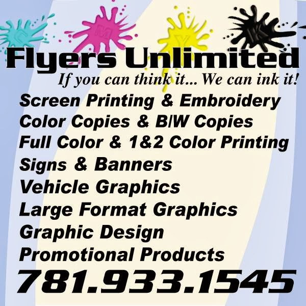 Flyers Unlimited - store    Photo 4 of 5   Address: 271 Salem St unit j, Woburn, MA 01801, USA   Phone: (781) 933-1545