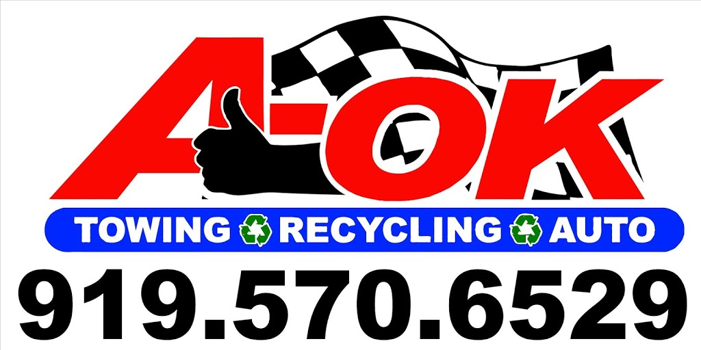 A-OK Towing Recycling & Auto LLC - car repair  | Photo 7 of 8 | Address: 13 Penders Loop, Franklinton, NC 27525, USA | Phone: (919) 570-6529