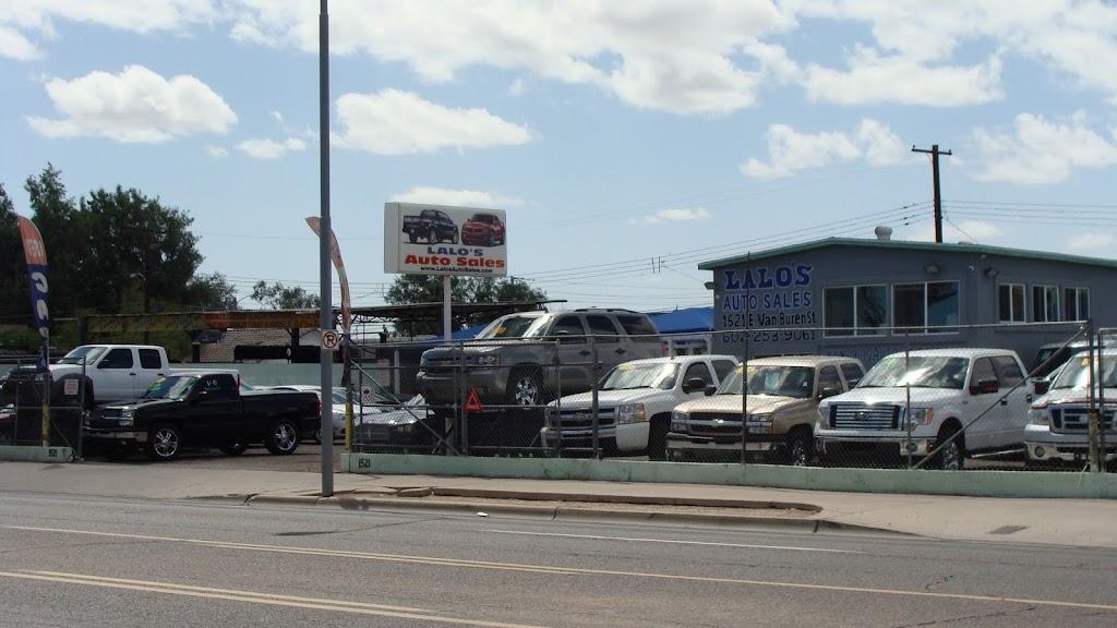 Lalos Auto Sales - car dealer    Photo 1 of 10   Address: 1521 E Van Buren St, Phoenix, AZ 85006, USA   Phone: (602) 253-9061