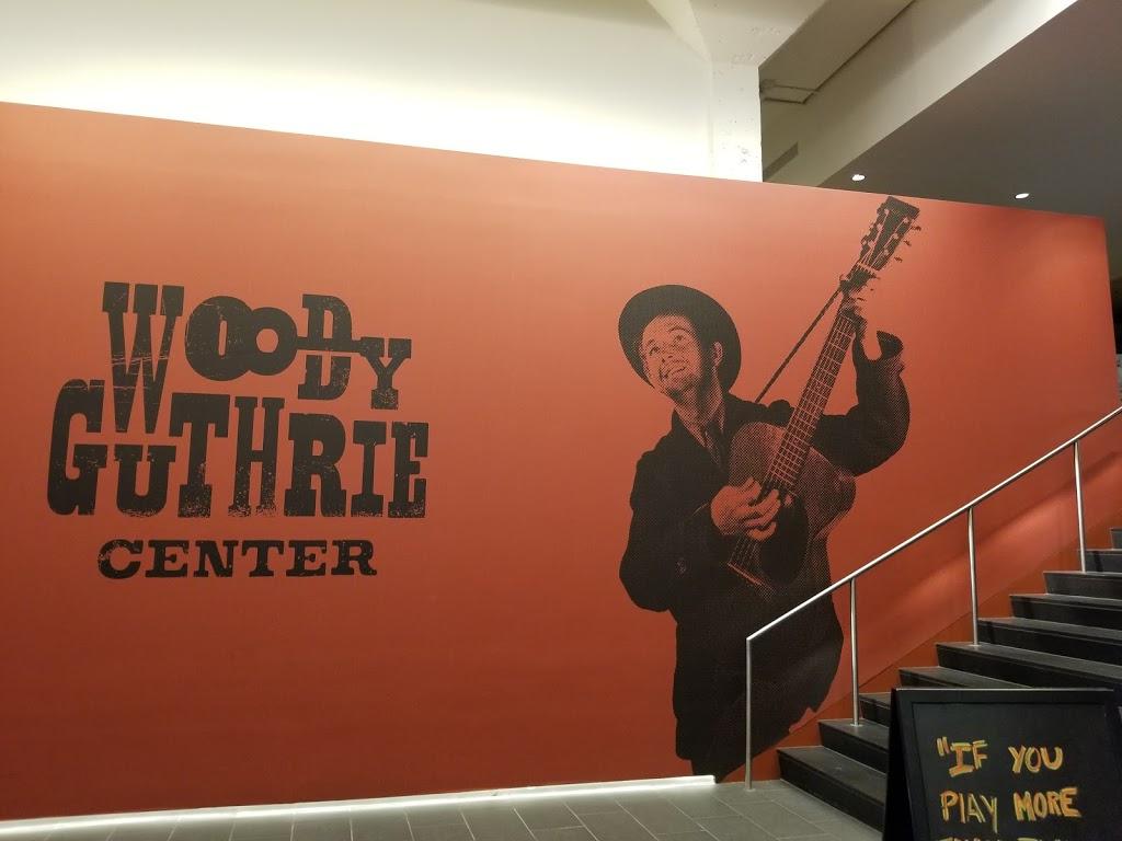 Woody Guthrie Center - museum    Photo 3 of 10   Address: 102 E Reconciliation Way, Tulsa, OK 74103, USA   Phone: (918) 574-2710