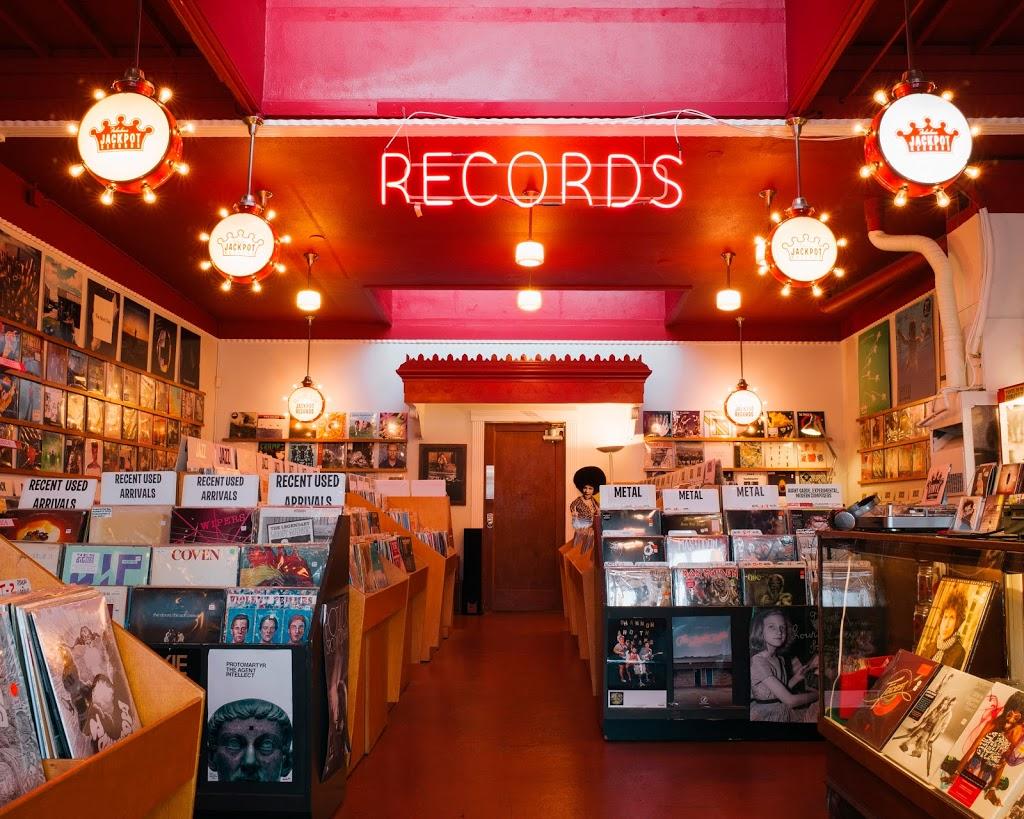 Jackpot Records - electronics store    Photo 2 of 10   Address: 3574 SE Hawthorne Blvd, Portland, OR 97214, USA   Phone: (503) 239-7561