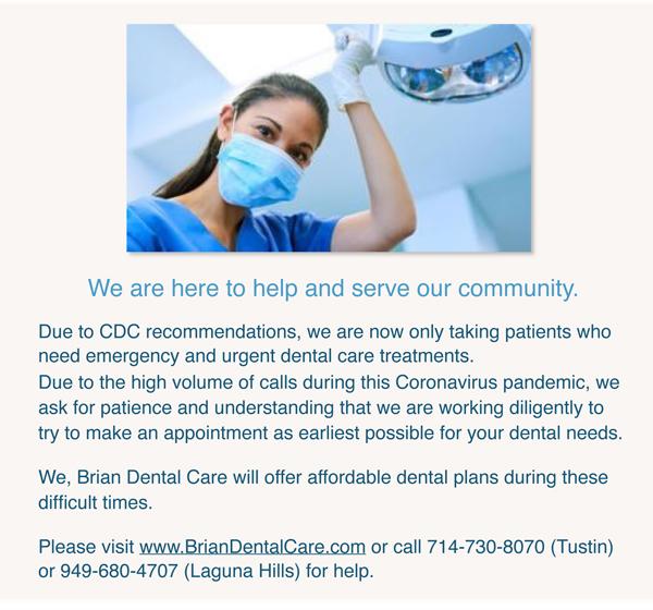 Brian Dental Care (Tustin) - dentist  | Photo 6 of 8 | Address: 12721 Newport Ave Suite 1, Tustin, CA 92780, USA | Phone: (714) 730-8070
